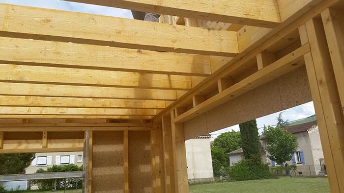 CHANTIERS EN COURS MAISONS CARACT u00c8RE BOIS maison de r u00eave en bois # Maison Ossature Bois Drome